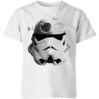 Star Wars Command Stromtrooper Death Star Kids' T-Shirt - White - 5-6 Years - White