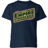 Star Wars Empire Strikes Back Logo Kids' T-Shirt - Navy - 5-6 Years - Navy