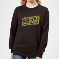 Star Wars Empire Strikes Back Logo Women's Sweatshirt - Black - XL - Black