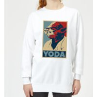 Star Wars Yoda Poster Women's Sweatshirt - White - XXL - White