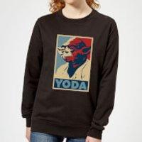 Star Wars Yoda Poster Women's Sweatshirt - Black - 5XL - Black - Yoda Gifts