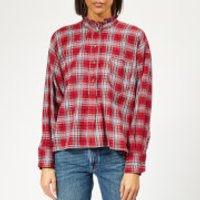 Isabel-Marant-toile-Womens-Dresden-Checked-Cotton-Shirt-Red-FR-38UK-10-Red