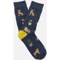 Joules Women's Brilliant Bamboo Single Socks - Navy Dogs