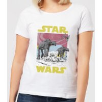 Star Wars ATAT Women's T-Shirt - White - M - White