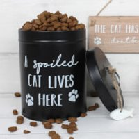 A Spoiled Cat Lives Here Treat Tin - Pets Gifts