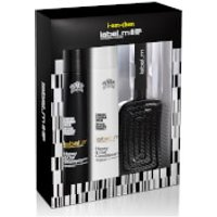 label.m Exclusive Designer Honey and Oat Gift Set with Free Detangling Paddle Brush (Worth £47.85)