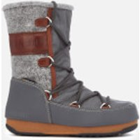 Moon Boot Women's Vienna Felt Waterproof Boots - Grey/Brown - EU 37/UK 4 - Grey/Brown