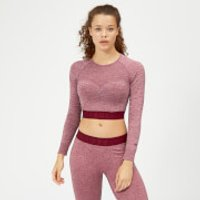 Inspire Seamless Crop Top - Dusty Rose - S - Dusty Rose