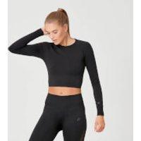 Shape Seamless Crop Top - XS - Black