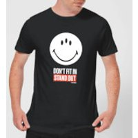 Smiley World Slogan Dont Fit In, Stand Out Mens T-Shirt - Black - XL - Black