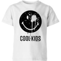 Smiley World Slogan Cool Kids Kids' T-Shirt - White - 11-12 Years - White - Cool Gifts