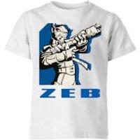 Star Wars Rebels Zeb Kids' T-Shirt - White - 11-12 Years - White