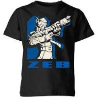 Star Wars Rebels Zeb Kids' T-Shirt - Black - 7-8 Years - Black
