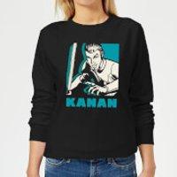 Star Wars Rebels Kanan Women's Sweatshirt - Black - M - Black