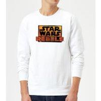 Star Wars Rebels Logo Sweatshirt - White - S - White