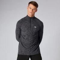 Performance ¼ Zip Top - Black Marl - XXL