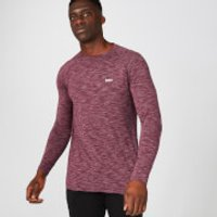 Image of Myprotein Performance Long Sleeve T-Shirt - Burgundy Marl - XXL