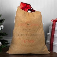 Christmas Delivery Service for Boys Christmas Sack - Henry