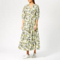 KENZO Women's Long Dress V Neck - White - EU 38/UK 8 - White
