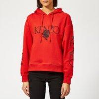 Kenzo Bold Hoodie - Medium Red