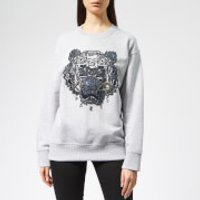 Kenzo Beaded Tiger Sweatshirt - Pale Grey
