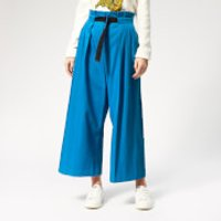 KENZO Women's Cropped Belted Pants - Cobalt - EU 38/UK 8 - Blue
