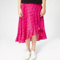 Kenzo Asymmetric Ruffled Midi Skirt - Deep Pink