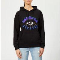 KENZO-Womens-Eye-Hoodie-Sweatshirt-Black-M-Black