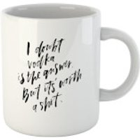 PlanetA444 I Doubt Vodka Is The Answer Mug - Vodka Gifts