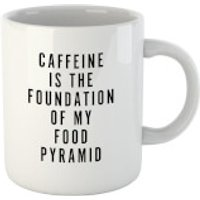 Caffeine Is The Foundation Of My Food Pyramid Mug - Makeup Gifts