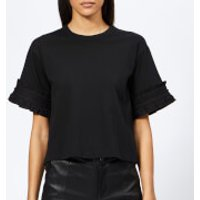 See-By-Chlo-Womens-Sleeve-Detail-TShirt-Black-M-Black