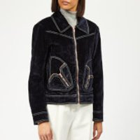 See By Chloe Women's Velvet Denim Jacket - Midnight - FR 40/UK 12 - Blue