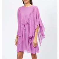 See-By-Chlo-Womens-Textured-Frill-Detail-Dress-Striking-Purple-FR-38UK-10-Purple