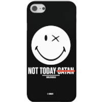 Smiley World Slogan Not Today Satan Phone Case for iPhone and Android - Samsung S8 - Snap Case - Mat