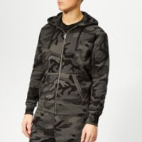 Polo Ralph Lauren Men's Cotton-Blend Zip Hoody - Charcoal Rl Camo - XL