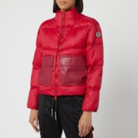 Armani Exchange Short Red Puffa Coat - Red