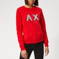 Armani Exchange Beaded Logo Sweatshirt - Red