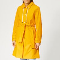 Tommy Hilfiger Womens Britt Hooded Trench Coat - Yellow - XS - Yellow