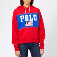 Polo-Ralph-Lauren-Womens-Pullover-Polo-Hoodie-Red-L-Red