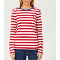 Polo-Ralph-Lauren-Womens-PP-Long-Sleeve-Stripe-Crew-Neck-TShirt-RedWhite-S-RedWhite