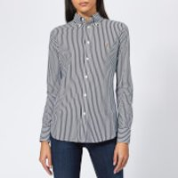 Polo-Ralph-Lauren-Womens-Heidi-Oxford-Striped-Shirt-Navy-M-Navy