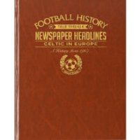 Celtic Europe Football Newspaper Book Brown Leatherette - Celtic Gifts