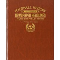 Huddersfield Football Newspaper Book - Brown Leatherette - Books Gifts