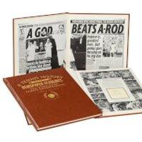 Wimbledon Tennis Newspaper Book - Brown Leatherette - Tennis Gifts
