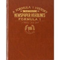 Formula One Newspaper Book - Brown Leatherette - Formula 1 Gifts