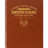 Horse Racing Newspaper Book - Brown Leatherette - Horse Racing Gifts