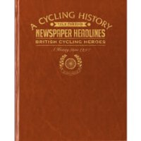 British Cycling Heroes Newspaper Book - Brown Leatherette - Cycling Gifts