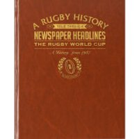 Rugby World Cup Newspaper Book - Brown Leatherette - World Cup Gifts