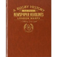 London Wasps Rugby Newspaper Book - Brown Leatherette - Rugby Gifts