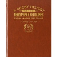 Challenge Cup Rugby Newspaper Book - Brown Leatherette - Rugby Gifts